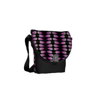 pink lotus flower bud messenger bag