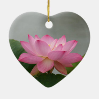 Pink Lotus flower Christmas Ornament