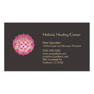 Pink Lotus Flower Holistic Natural Healing Arts Pack Of Standard Business Cards