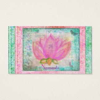 Pink Lotus Flower Namaste