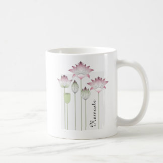 Pink Lotus Flower Namaste Elegant Chic Name Coffee Mug