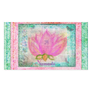 Pink Lotus Flower Namaste Pack Of Standard Business Cards