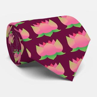 Pink Lotus Flower Tie