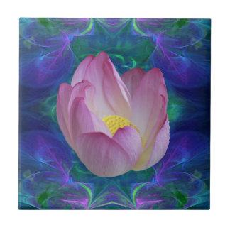 Pink lotus flower tile