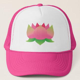Pink Lotus Flower Trucker Hat