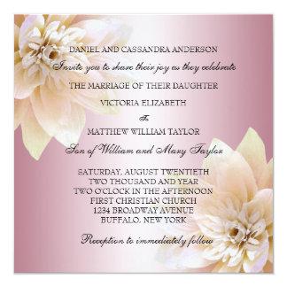 Pink Lotus Flower Wedding Card