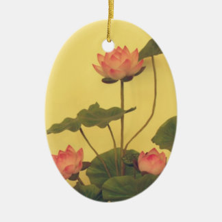 Pink Lotus flowers Christmas Ornament