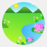 Pink lotus flowers - Sticker