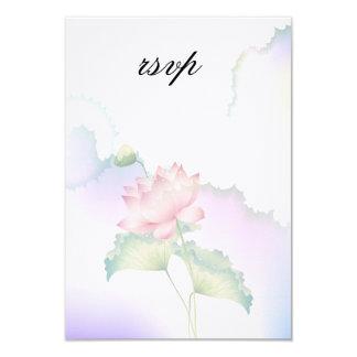 Pink Lotus Flowers Watercolor Card