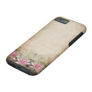 Pink Lotus Grunge Tough iPhone 6 Case