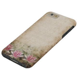 Pink Lotus Grunge Tough iPhone 6 Plus Case