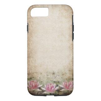 Pink Lotus Grunge Tough iPhone 7 Case