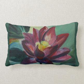 Pink lotus Lumbar Pillow 33 cm x 53 cm