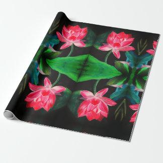Pink Lotus Matte Wrapping Paper