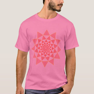pink lotus on pink T-Shirt