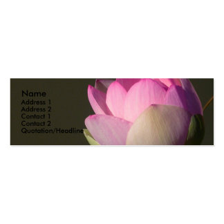 Pink Lotus Profile Card Double-Sided Mini Business Cards (Pack Of 20)