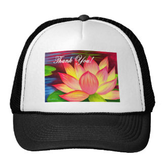 Pink Lotus Water Lily Flower Thank You - Multi Cap
