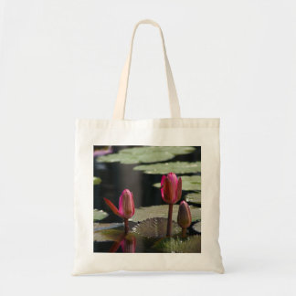 Pink Lotus Waterlilies Tote Bag