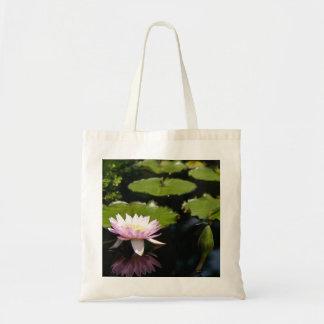 Pink Lotus Waterlily Dragonfly Tote Bag