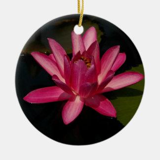 Pink Lotus Waterlily Flower Ornament