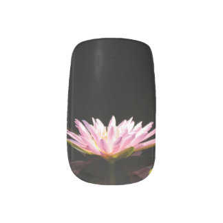 Pink Lotus Waterlily Nail Art