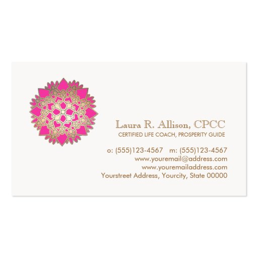 Pink Lotus Wellness and Healing Arts Business Card