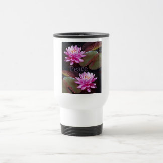 Pink Lotus with Peace Coffee Mug