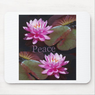 Pink Lotus with Peace Mousepads