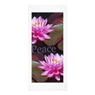 Pink Lotus with Peace Rack Cards