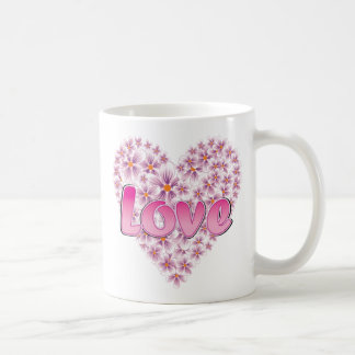 Pink Love and Daisies Coffee Mugs