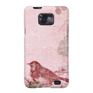 Pink Love Bird Galaxy S2 Covers