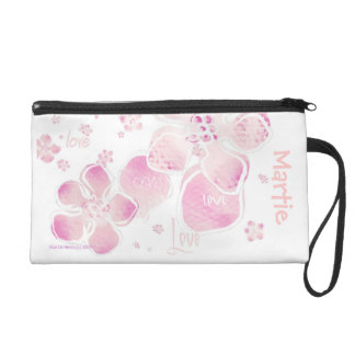 Pink Love Blossoms - Cell Phone Bag Wristlet