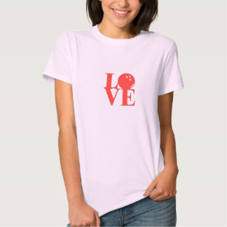 """Pink """"Love"""" Bowling Tee by League Champ Bowling"""
