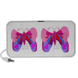 Pink Love Butterfly iPod Speaker