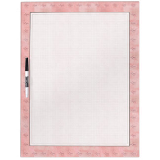 Pink Love Graphic Text Wipe Board Dry Erase White Board
