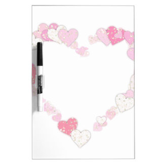 Pink Love Heart Dry Erase Board