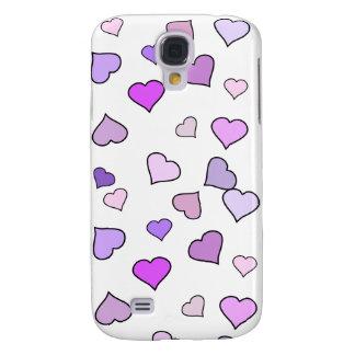 Pink Love Heart Pattern Galaxy S4 Case