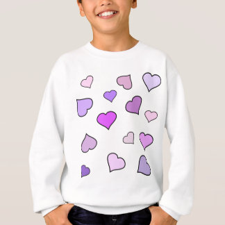 Pink Love Heart Pattern Sweatshirt