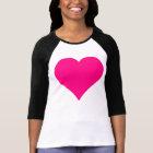 Pink Love Heart Shape T-Shirt