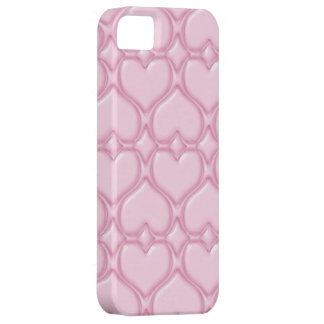 Pink Love hearts textures iPhone 5 Cases