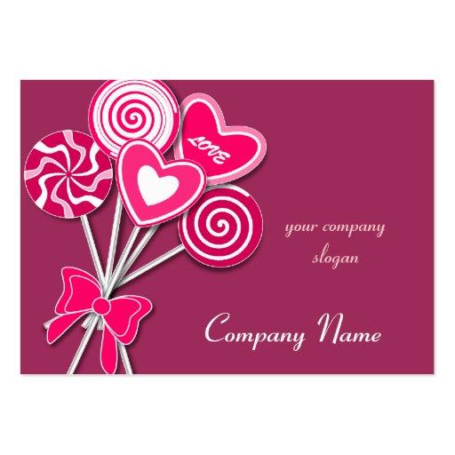 Pink love Lollipop Candy Shop Bakery Business Card Business Cards