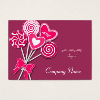 Pink love Lollipop Candy Shop Bakery Business Card