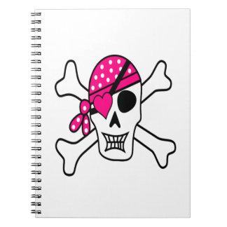 Pink Love Pirate Notebooks