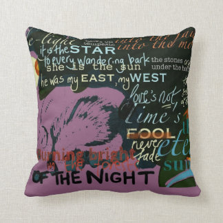 "Pink Love Quotes 20""  Cushion Shakespeare"