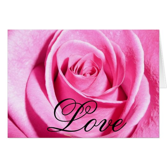 Pink Love Rose Card