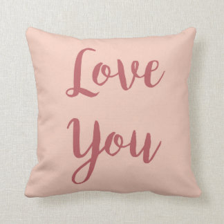 "Pink ""Love You"" Pillow"