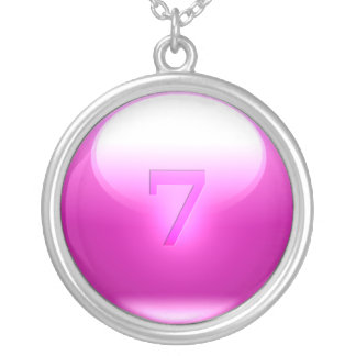 Pink Lucky 7 Personalized Necklace