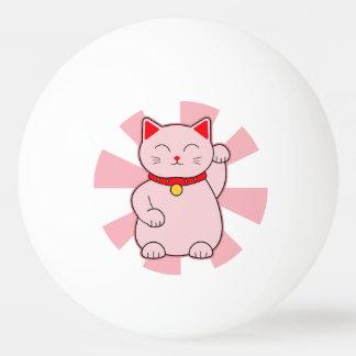 Pink Lucky Cat Ping Pong Ball