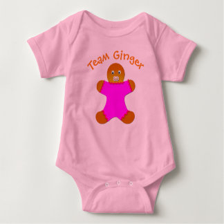 Pink Lucky Team Ginger For Fun Ginger and Redheads Baby Bodysuit