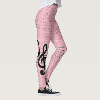 Pink Lyric Leggings